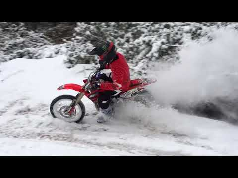A Honda CRF150R Rip in the Snow with Carson Brown