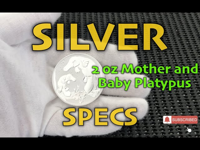 SILVER SPECS-  2 oz Platypus and Baby Silver Coin