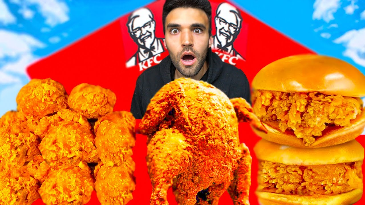 Download LIVING on WORLD'S BEST FRIED CHICKEN for 24 HOURS (Ft Nick DiGiovanni, Gordon Ramsay,MrBeast Burger)