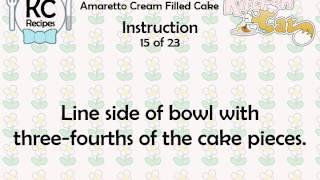 Amaretto Cream Filled Cake - Kitchen Cat