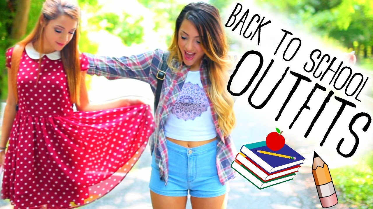 770c037e8a79 Back to School Outfit Ideas + Inspiration w/ Niki and Gabi! - YouTube