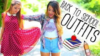 Back to School Outfit Ideas + Inspiration w/ Niki and Gabi!
