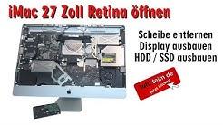 Apple iMac 27 Retina | Pro öffnen - Scheibe entfernen - Display HDD ausbauen - [4K]