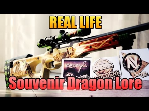 Real Life Souvenir Dragon Lore - Sticker [KennyS AWP]