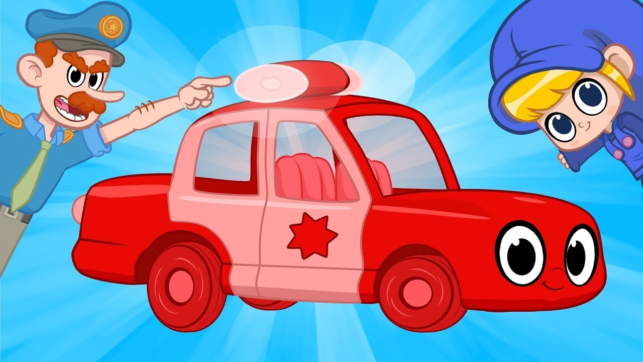 My Red Police Car Morphle My Magic Pet Morphle Vehicle Videos For