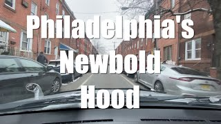 Driving Tour Philadelphia's Newbold Hood | South Philly Highly Gentrified Area Up Close (Narrated)