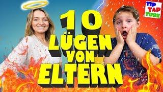 10 Lügen von Eltern die den Kindern erzählt werden (+ Outtakes) 😇 TipTapTube 😁 Familienkanal 👨👩👦👦