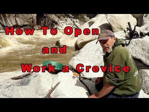 How to open and work a crevice