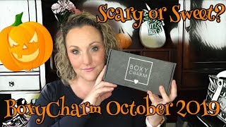 BoxyCharm Unboxing October 2019. Interesting Choices This Month