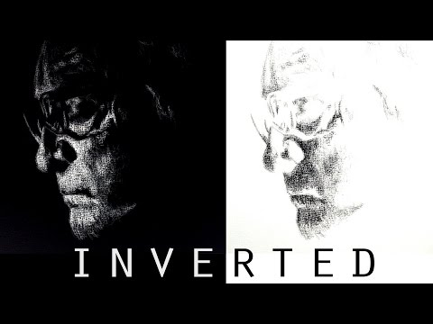 Drawing Inverted/Negative Portrait Using Reference [Picasa] [Quick Tutorial] [Johnny Cash]