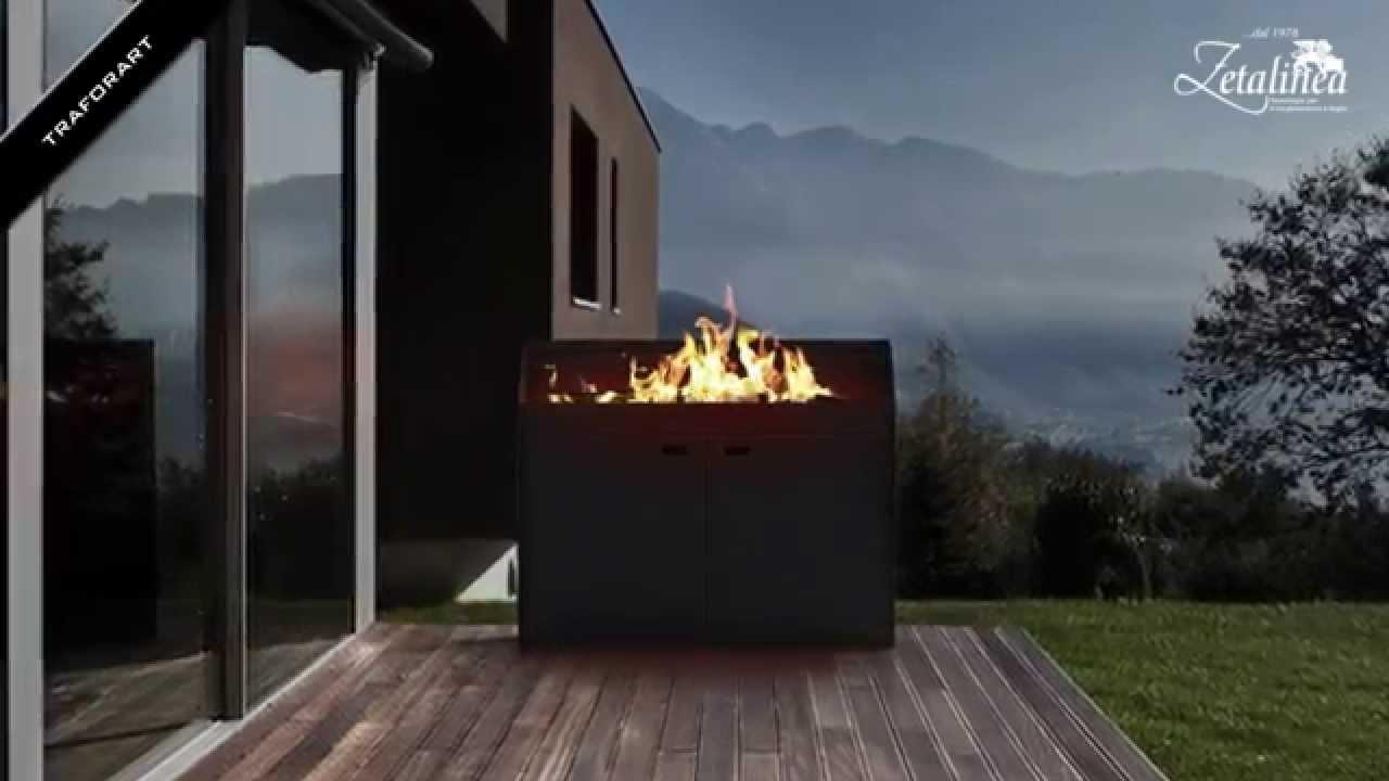 Camini design da esterni traforart il fuoco di carattere for Mobili per terrazzi e giardini