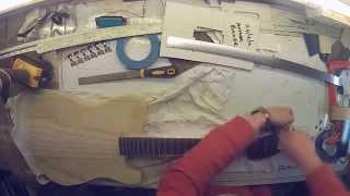 fitting neck to guitar tele style body mounting bridge and stringing up gopro