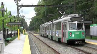HD MBTA Green Line Woodland Station