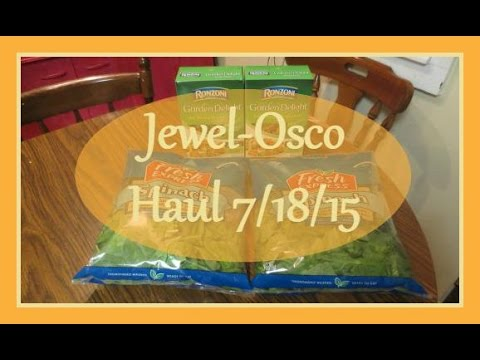 Jewel-Osco Coupon Grocery Haul 7/18/15