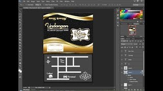 Cara Desain Kartu Undangan di photoshop