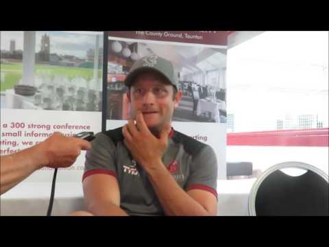 Roelof van der Merwe Interview after Somerset beat Durham