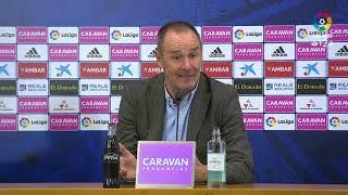 Rueda de prensa de Víctor Fernández tras el Real Zaragoza vs UD Almería (1-1)