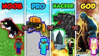 Minecraft NOOB vs. PRO vs. HACKER vs. GOD: GODZILLA MUTANT in Minecraft! (Animation)