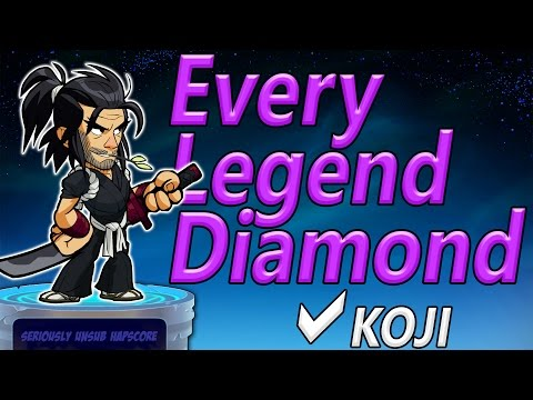 Koji... Check | Every Legend Diamond! (Brawlhalla)