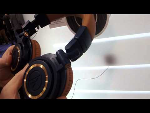 Nova Musik - Audio-Technica ATH-M50xBL Blue And Copper Professional Monitor Headphones At NAMM 2014