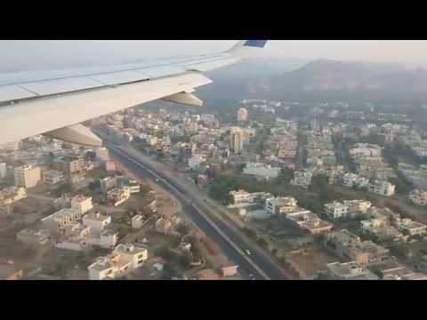 Landing at Sanganer Airport, Jaipur