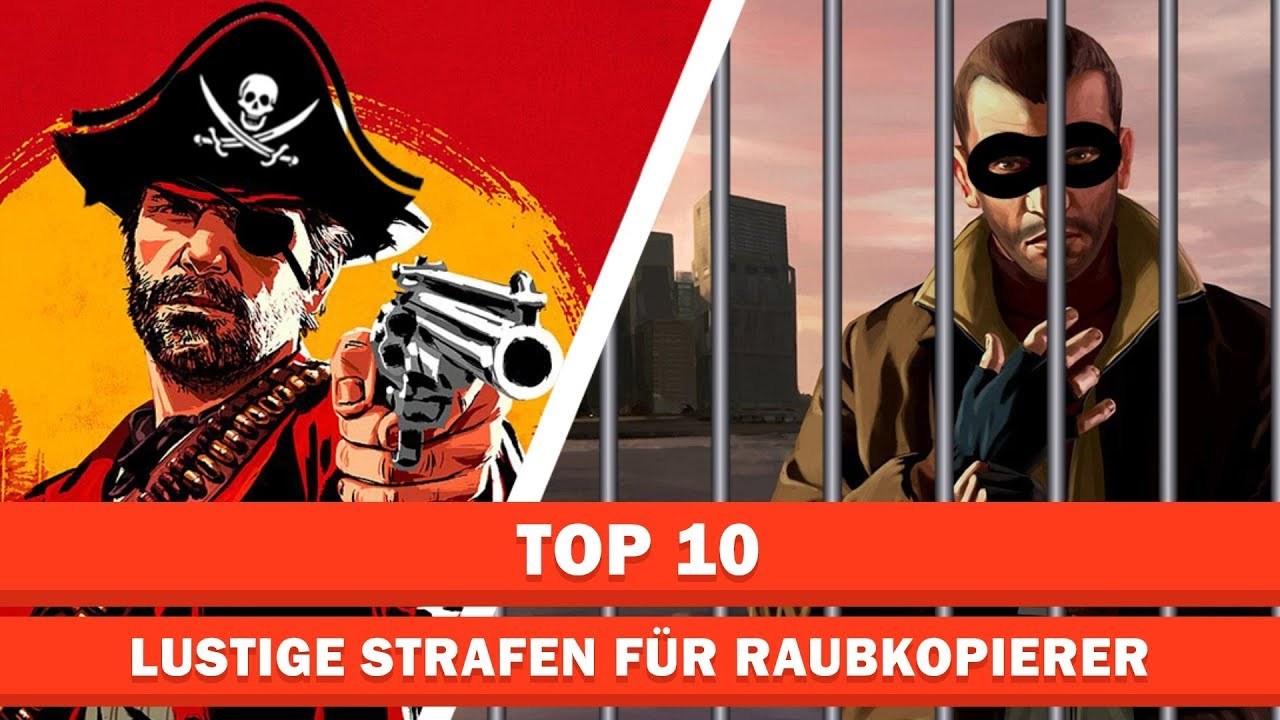 Lustige Strafen für Raubkopierer | Top 10 - YouTube