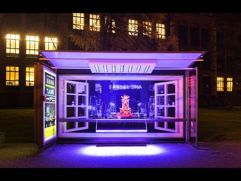 Air Baltic bus shelters recognise a good accent during the Festival of Light | JCDecaux Latvia