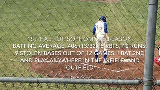 Darin Marsh Sophomore Baseball Season 1/2