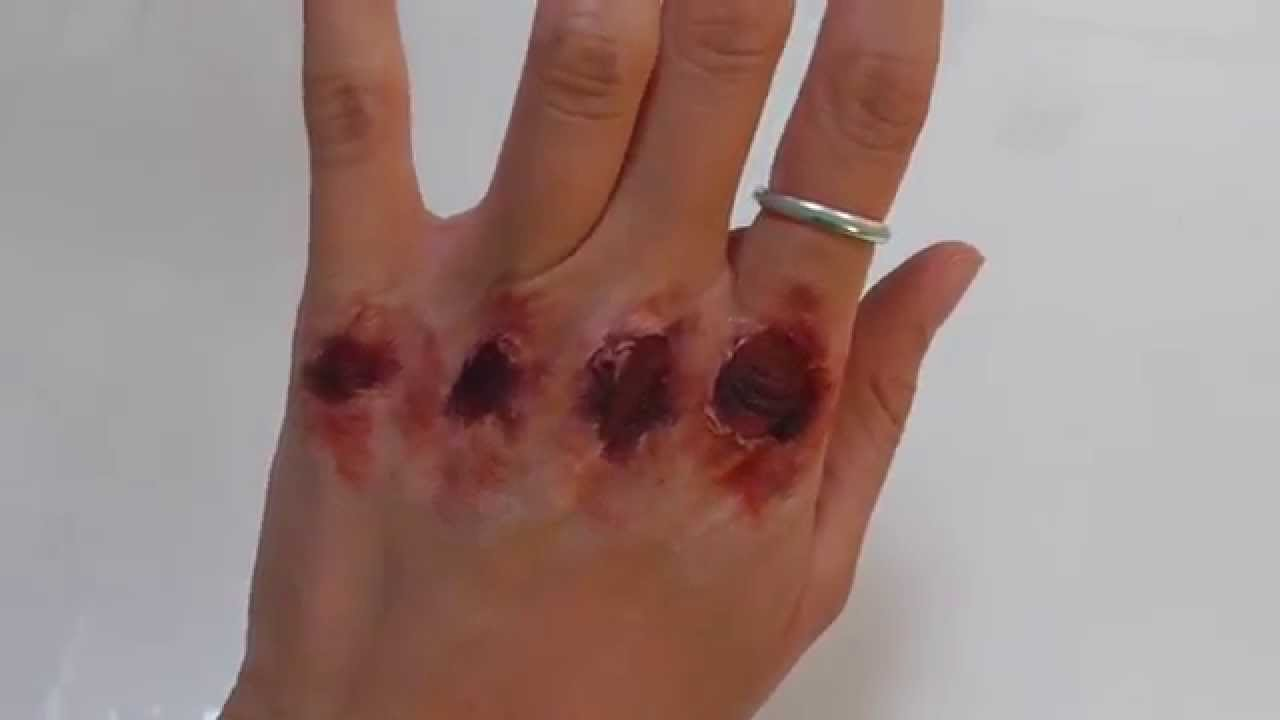 Make Up Hair Band Injury Makeup Bloody Knuckles Youtube