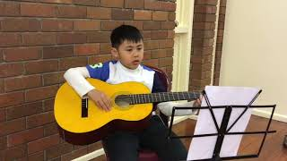 Ethan performing on Guitar !