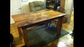 Handmade Dinner Table Made Of Reclaimed Barn Board