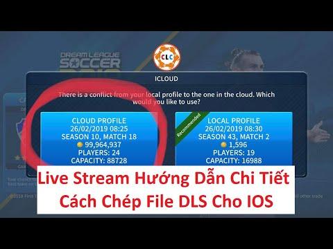 cách hack tiền dream league soccer 2019 ios - Live | Cách Chép File DLS Cho IOS | iCloud & Pass 👇👇