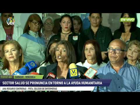 Venezuela - Colegio de Enfermería aseguró defender el ingreso de la ayuda humanitaria - VPItv