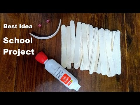 Best Idea for School Project || Popsicle  or Ice cream stick Project