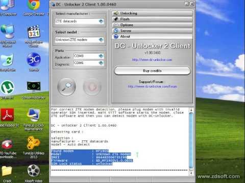 How to unlcok locked modem ZTE MF-190