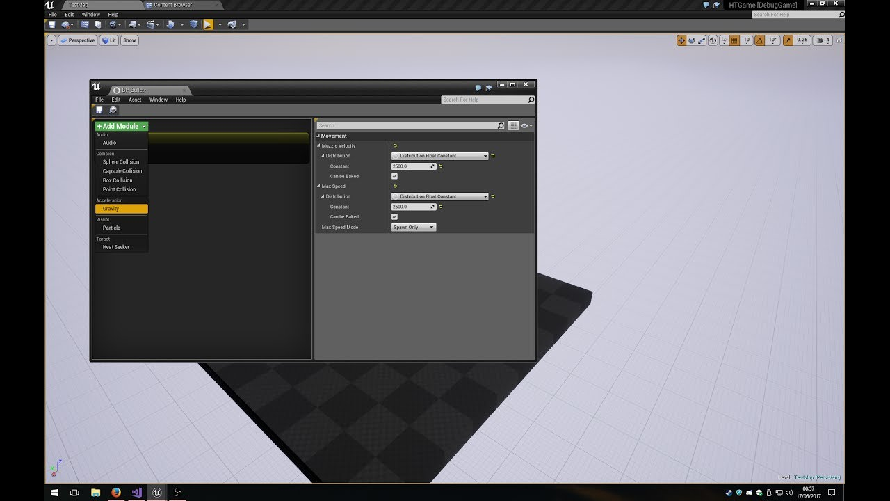 Unreal Engine 4 - Modular Ordnance Editor / Runtime POC