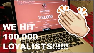 WE FINALLY HIT 100,000 SUBSCRIBERS!!! THANK YOU LOYALISTS!!!