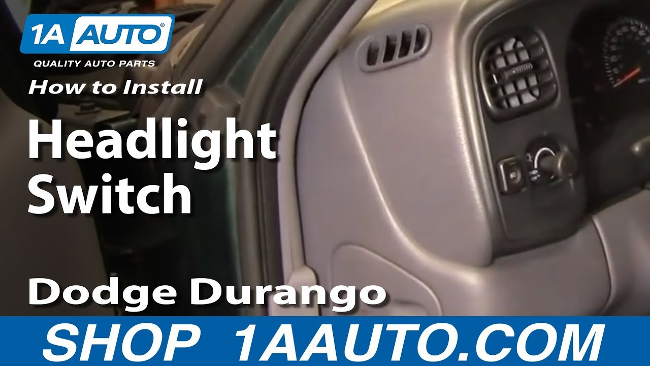 How To Install Replace Headlight Switch Dodge Durango 98