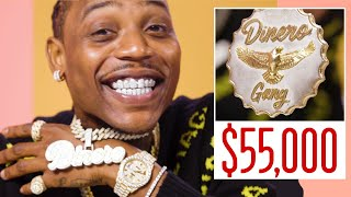 Flipp Dinero Shows Off His Insane Jewelry Collection | On the Rocks | GQ