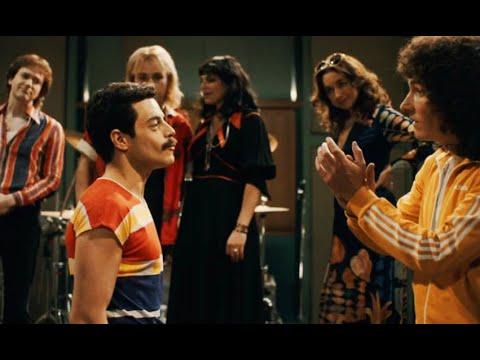 Queen записывают новый хит We will rock you:  Богемская Рапсодия (2018) Момент из фильма