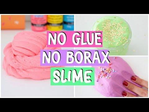 MAKING 4 AMAZING DIY No Glue, No Borax FAMOUS Slime Recipes!
