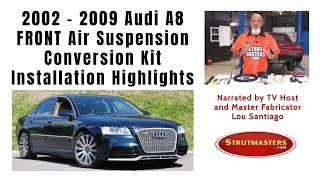 how to convert the front air spring on an audi a8