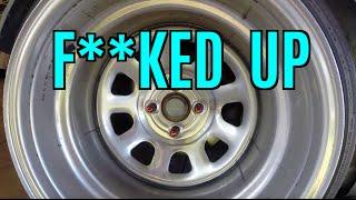my wheel is f ked flexidip sucks some undercarriage damage