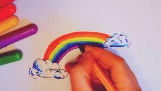 Радуга - учим цвета. Как нарисовать радугу How to Draw a Rainbow(Если Вам понравилось видео, подписывайтесь на мой канал: https://www.youtube.com/channel/UCqy7--XK7XV6feslvKXeirQ В видео показан..., 2016-10-13T20:01:24.000Z)