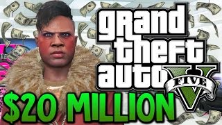 GTA 5 - Winning The Lottery - $20,000,000 Spending Spree (GTA 5 Funny Moments) thumbnail
