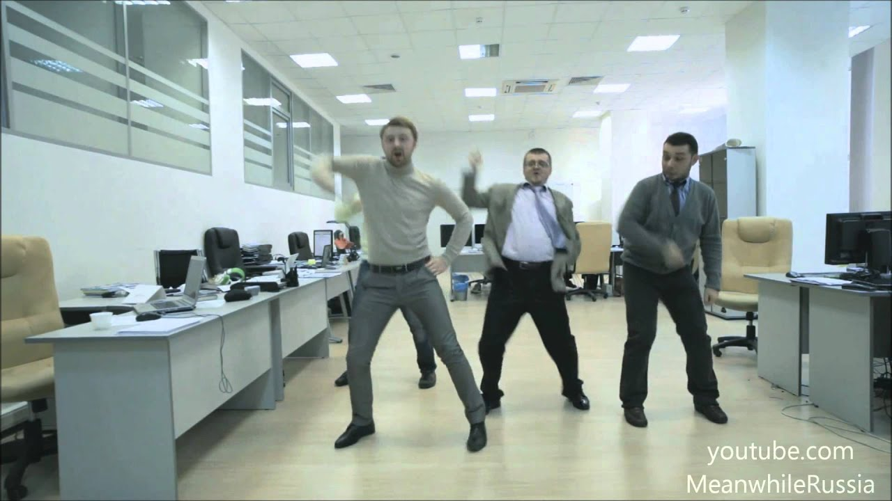 dancing in the office