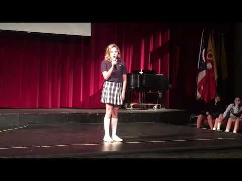 "Katie Carson:  ""Never Enough"" Columbus School for Girls Talent Show"