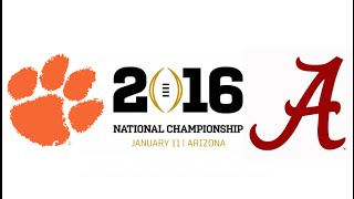2016 CFP National Championship, #1 Clemson vs #2 Alabama (Highlights)