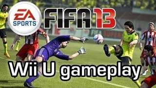 Fifa 13 Wii U - Playing football with touch screen gamepad controls