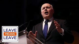 Iain Duncan Smith MP speaks at Leave Means Leave rally